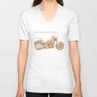 notebook V-neck T-shirts featuring Travel Plan by Megs stuff