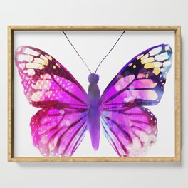 Pink Butterfly Serving Tray
