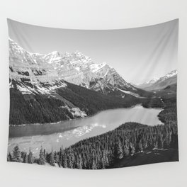 Landscape Photography Peyto Lake | Black and white Wall Tapestry