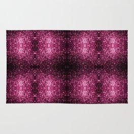 Beautiful Dark Pink glitter sparkles Rug