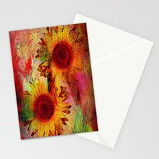 sunflowers abstract vintage Stationery Cards