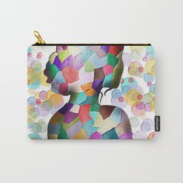 Abstract Mosaic Woman Silhouette Carry-All Pouch