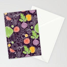 Vegetable Pattern Scandinavian Design Stationery Cards