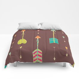 Bohemian hand drawn arrows, 02 Comforters