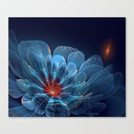 3D Blue Flower V2 Canvas Print