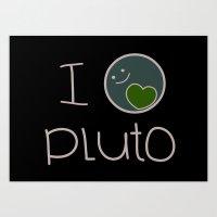 I heart pluto Art Print