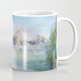 Morning in mountains. mountain landscape Coffee Mug