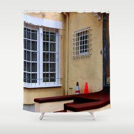 Caution - Break-ins Not Advised Shower Curtain