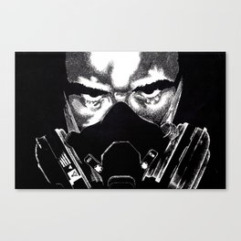 Respirator Guy Canvas Print