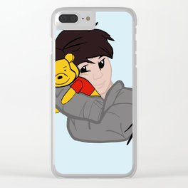 danisnotonfire with Winnie the Pooh (Unofficial) Clear iPhone Case