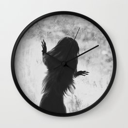Golden Lion Tamarin in Black and White Wall Clock