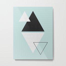 Set of triangles Metal Print