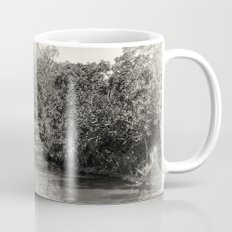 Black and white study of a tranquil river Mug