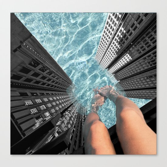 Public Pool Canvas Print