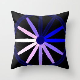 blue spokes Throw Pillow