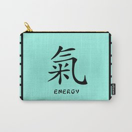 """Symbol """"Energy"""" in Green Chinese Calligraphy Carry-All Pouch"""