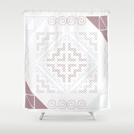Tribal Hmong Embroidery Shower Curtain