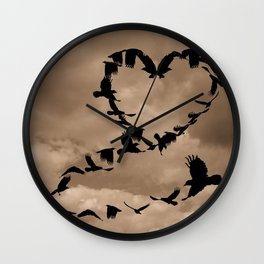 Heart of Crows (Birds) A276 Wall Clock