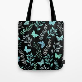 Watercolor flowers & butterflies IV Tote Bag
