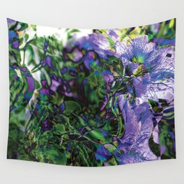 Abstracted Purple Petunias Wall Tapestry