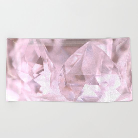 Something Pink And Shiny... For You! Beach Towel