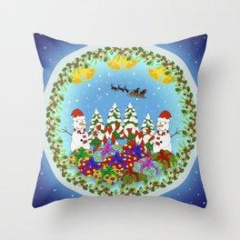 Christmas Crystal Ball (Special Edition) Throw Pillow