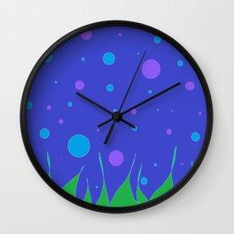 Flames of Grass Wall Clock