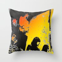 velvet underground Throw Pillows featuring Velvet Underground by Matt Pecson