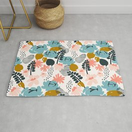 late summer floral Rug