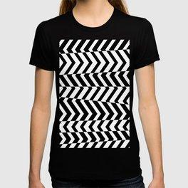 Stripe Black And White Pattern T-shirt
