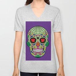 Colorful Skull VI Unisex V-Neck