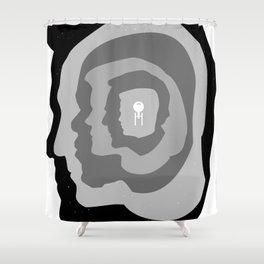 Star Trek Head Silhouettes Shower Curtain