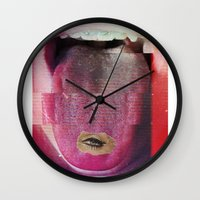 teen titans Wall Clocks featuring teen by Alba Blázquez
