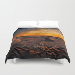 Beach Barrel Sunset Duvet Cover