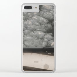 Metal and clouds Clear iPhone Case