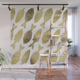Indonesian Fish Duo – Gold Palette Wall Mural