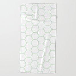 Honeycomb Mint Green #192 Beach Towel