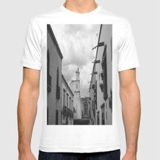 Bell Tower Mens Fitted Tee White SMALL