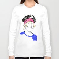 mcfly Long Sleeve T-shirts featuring Dougie the pirate (McFly) by Mariam Tronchoni