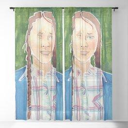 Greta Thunberg Sheer Curtain