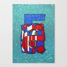 France – Glitter Canvas Print