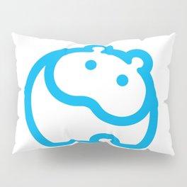 Blue hippo Pillow Sham