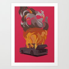 Hot Pink Fire Art Print