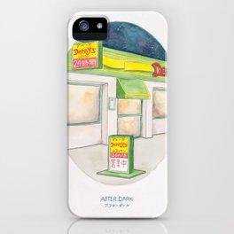 Haruki Murakami's After Dark Watercolor Illustration iPhone Case