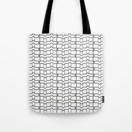 Black and white grid Tote Bag