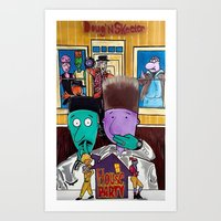 """'HOUSE PARTY"""" Starring Doug&Skeeter Art Print"""