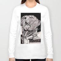 freddy krueger Long Sleeve T-shirts featuring Freddy Krueger by Emz Illustration