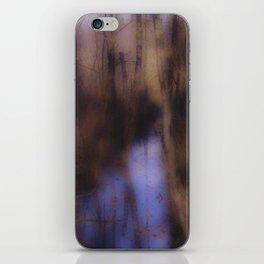 Creek in the autumn mist  iPhone Skin