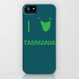 I heart Tasmania iPhone Case