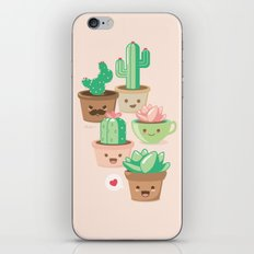 Kawaii Succulents iPhone & iPod Skin